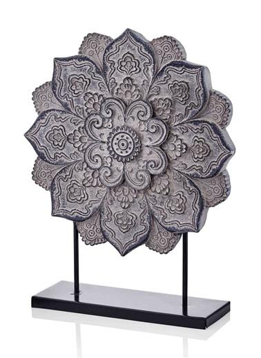 The Mia Dekoratif Mandala - 45 Cm Gri